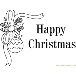 Christmas Greeting Card Free Coloring Page for Kids