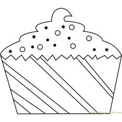 Christmas Pastry Free Coloring Page for Kids
