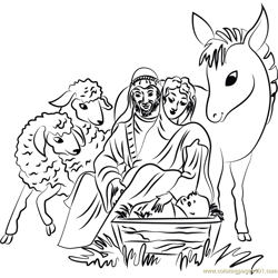 Holy Christmas Free Coloring Page for Kids