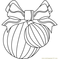 Christmas Decorations Free Coloring Page for Kids