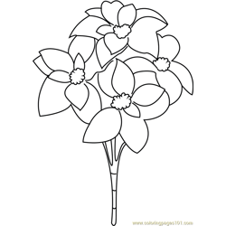 Christmas Flowers Free Coloring Page for Kids