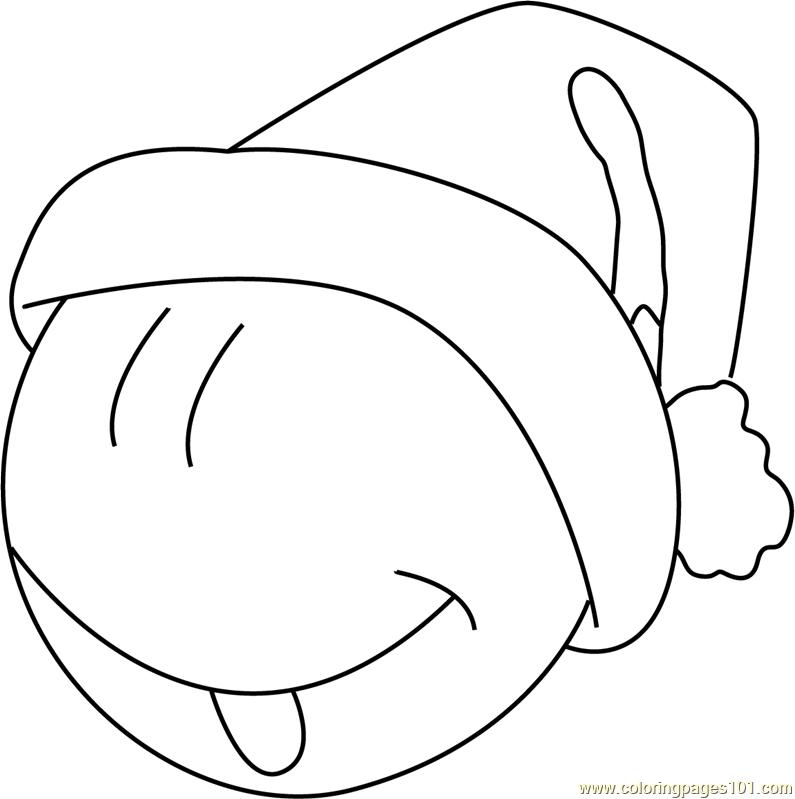 santa emoji coloring page