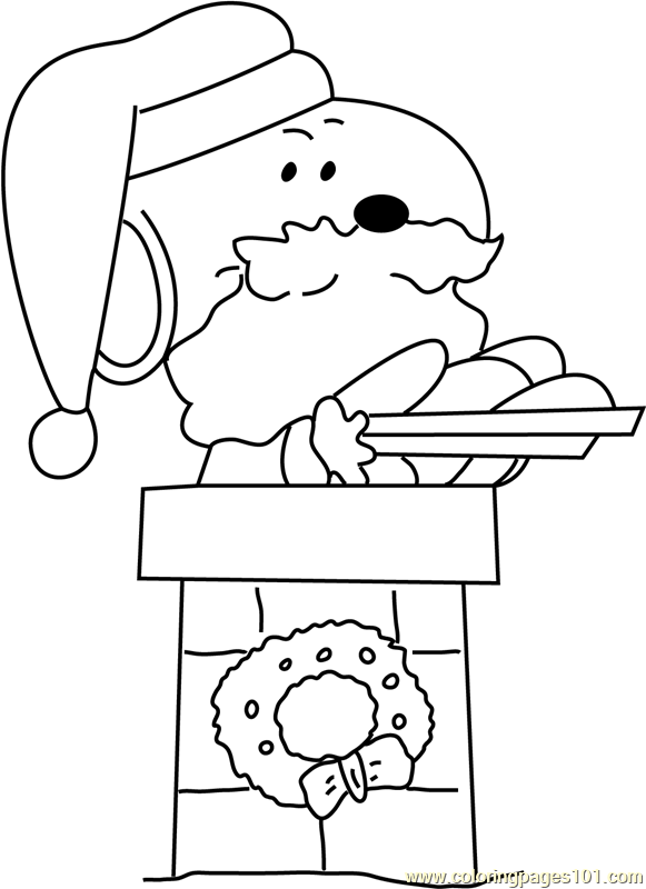 Santa with Gifts on Top Coloring Page
