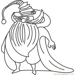 Cute Santa Claus coloring page