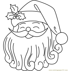 Cute Santa Face coloring page