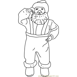 Happy Santa coloring page