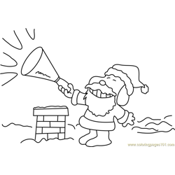 Sanata with Horn Free Coloring Page for Kids