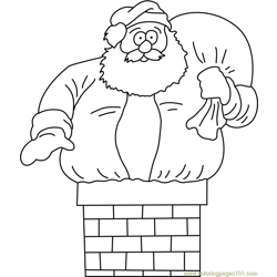 Santa going in Chimney