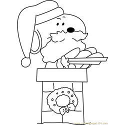 Santa with Gifts on Top Free Coloring Page for Kids