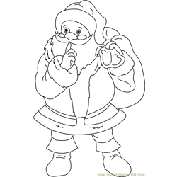 Shhhh Santa is Coming coloring page