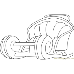 Santa's Sleigh Large coloring page