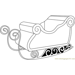 Santa's Sleigh Only Free Coloring Page for Kids