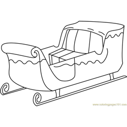 Santa's Sleigh Free Coloring Page for Kids