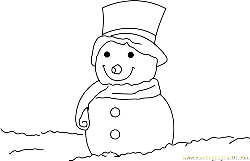 santa snowman printable coloring page for kids and adults