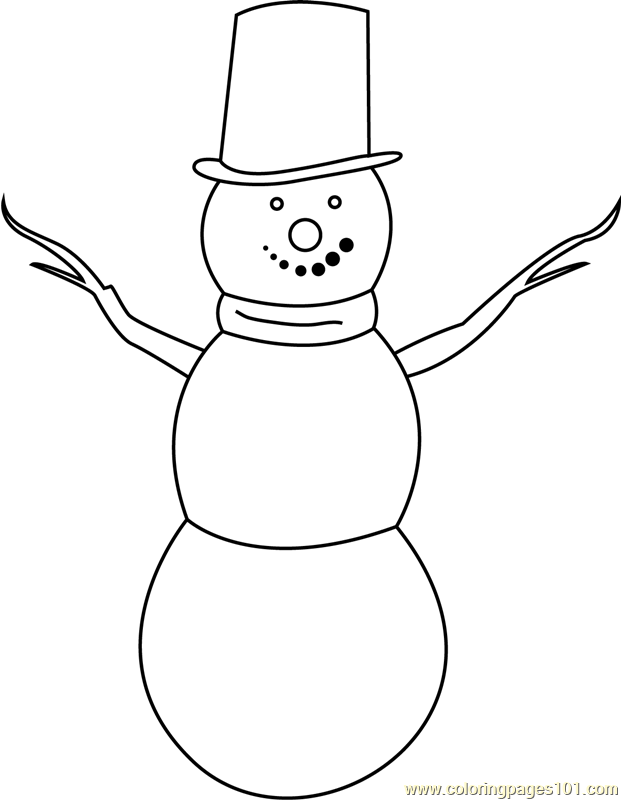 Simple Snowman Coloring Page - Free Snowman Coloring Pages ...