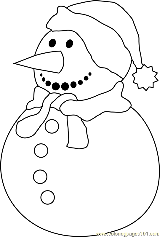 Snowman Again Coloring Page