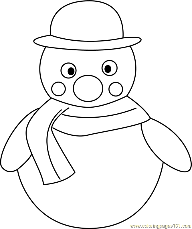 Snowman Coloring Page - Free Snowman Coloring Pages ...