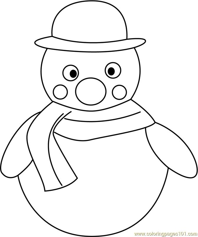 snowman coloring page - Snowman Coloring Page