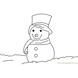 Santa Snowman Free Coloring Page for Kids