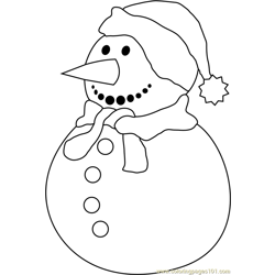 Snowman Again Free Coloring Page for Kids