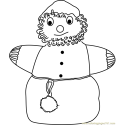Snowman Santa Free Coloring Page for Kids