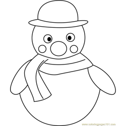 Snowman Free Coloring Page for Kids