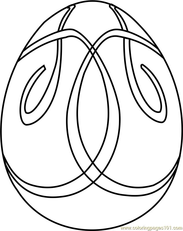 Easter Egg Design 3 Coloring Page