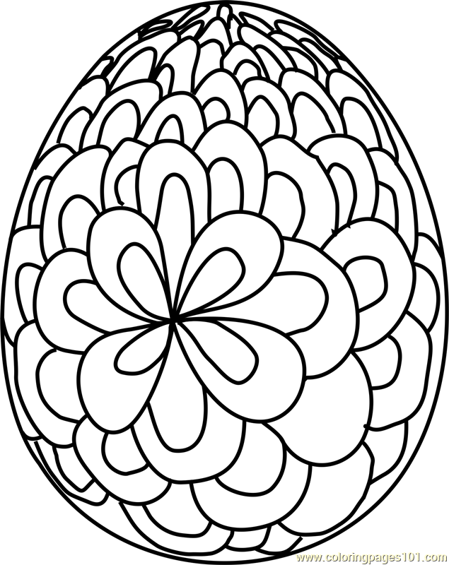 Easter Egg Design 4 Coloring Page