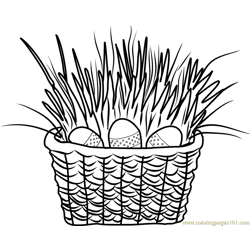 Easter Basket Free Coloring Page for Kids