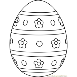 Easter Egg Design 1 Free Coloring Page for Kids