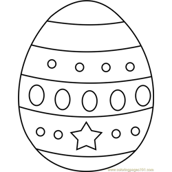 Easter Egg Design 2 Free Coloring Page for Kids