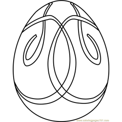 Easter Egg Design 3 Free Coloring Page for Kids