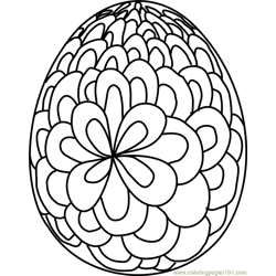 Easter Egg Design 4 Free Coloring Page for Kids