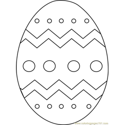 Easter Egg Free Coloring Page for Kids