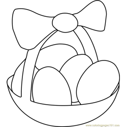 Easter Eggs Basket Free Coloring Page for Kids