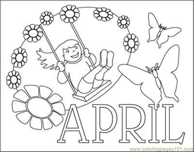 April Coloring Pages Coloring Page