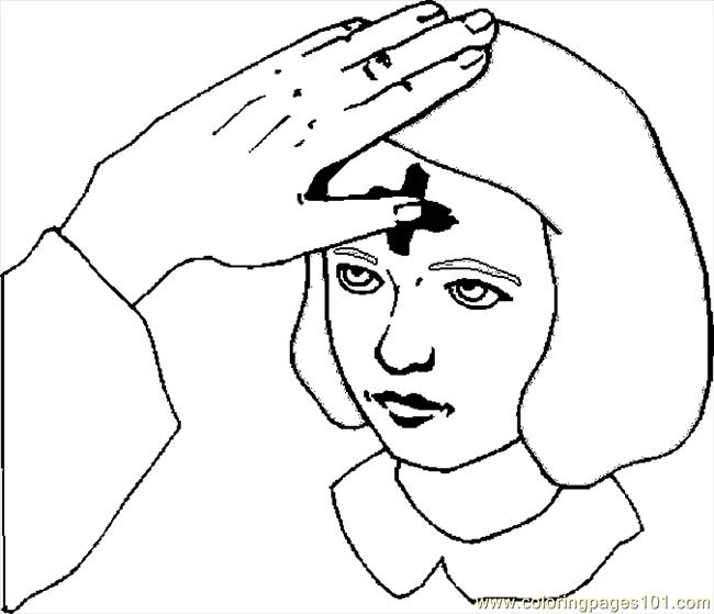 Ash Wednesday Coloring Page Free