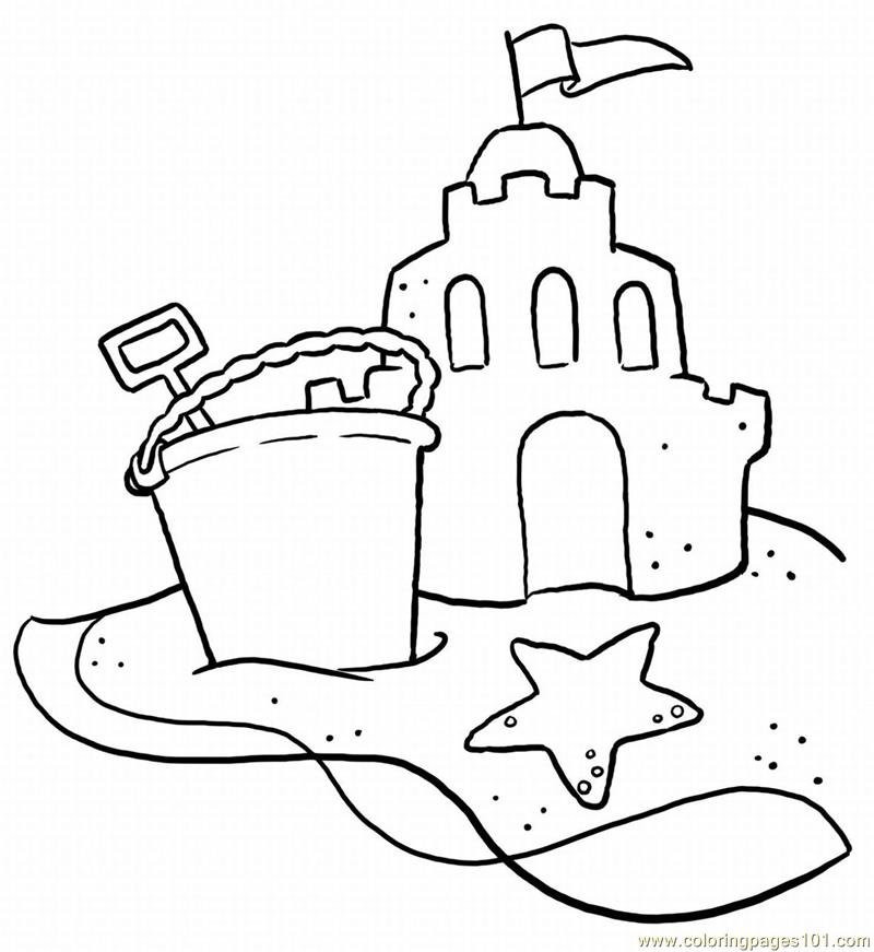 Beach-scene Coloring Page For Kids - Free Holidays Printable Coloring Pages  Online For Kids - ColoringPages101.com Coloring Pages For Kids