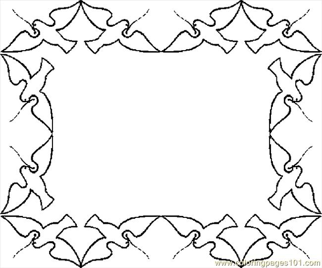 Birds Border Coloring Page