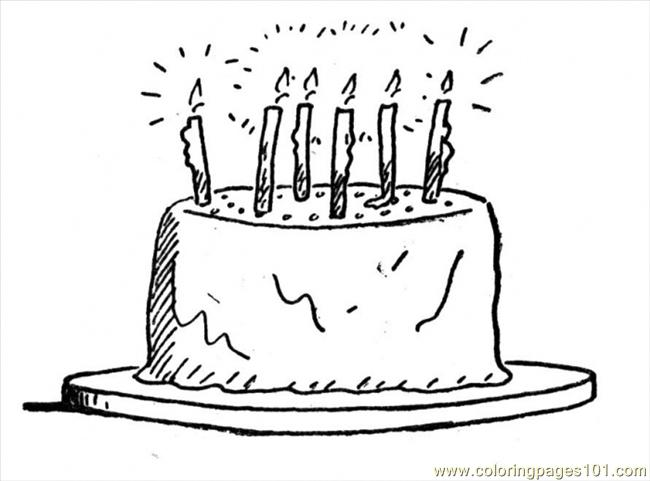 Birthday 3 Coloring Page