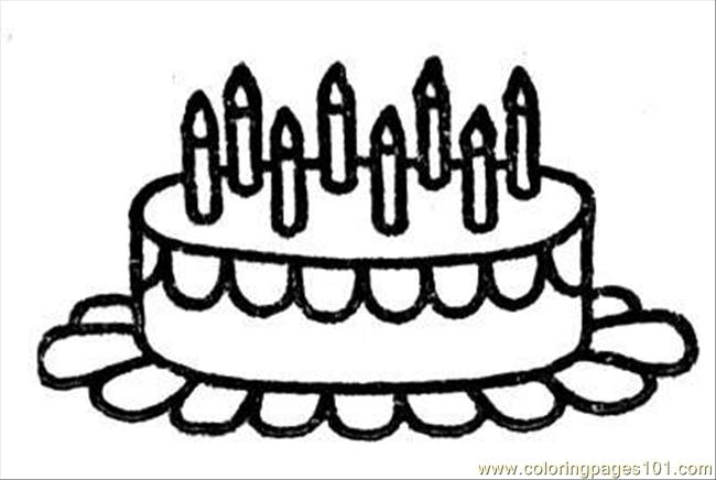 Birthday 7 Coloring Page