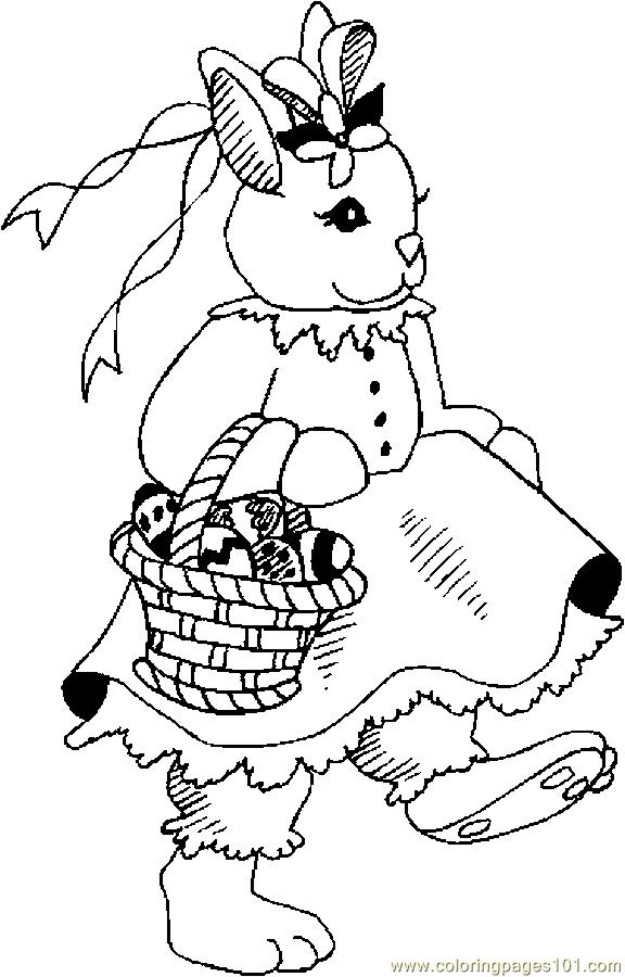 Bunny With Basket 12 Coloring Page