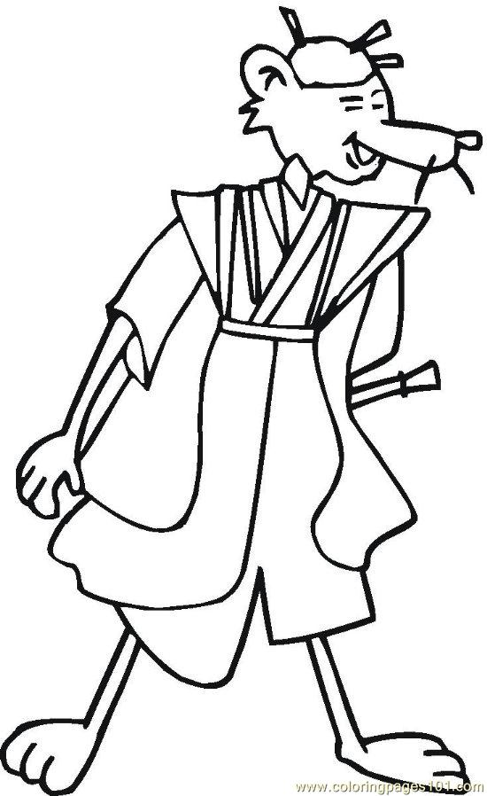 Chinese (24) Coloring Page