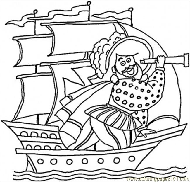 Columbus Is Looking For India Coloring Sheet Coloring Page