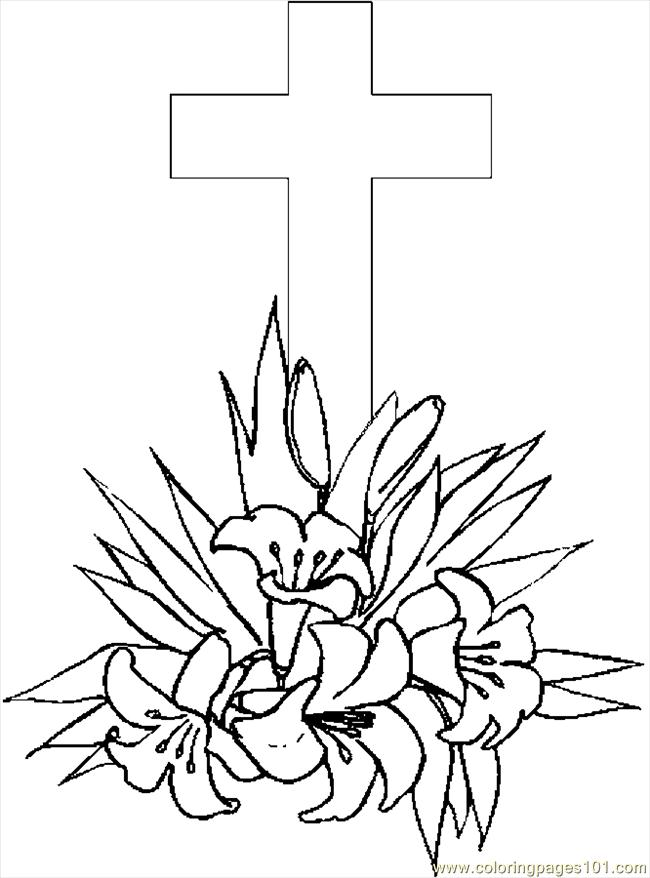 Cross Lilies 4 Coloring Page