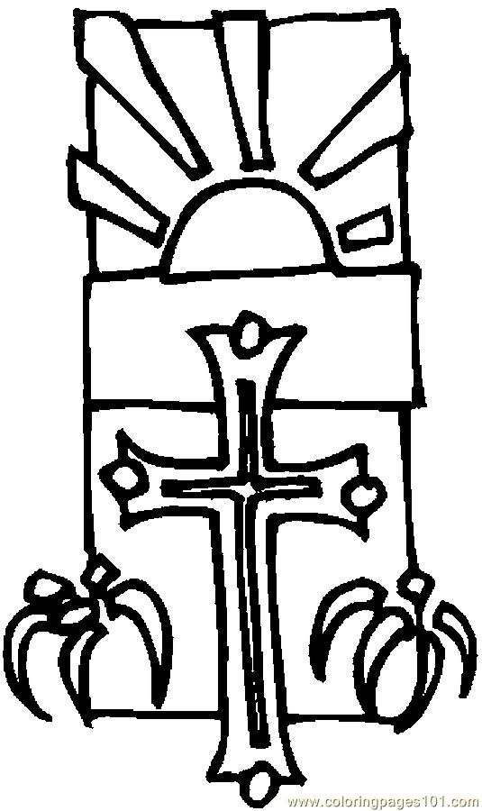Cross Lilies 6 Coloring Page