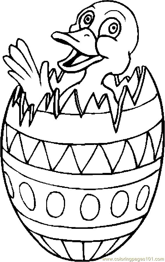 Duck In Easter Egg 1 Coloring Page
