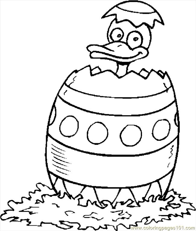 Duck In Easter Egg 3 Coloring Page