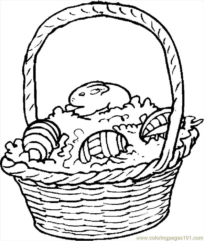 Easter Basket 14 Coloring Page - Free Holidays Coloring Pages ...