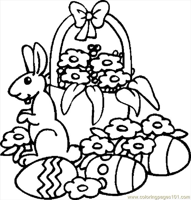 easter basket 19 coloring page - Coloring Pages Easter Baskets